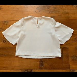 Zara Tops - Zara Ivory Cropped Blouse with Large Sleeves
